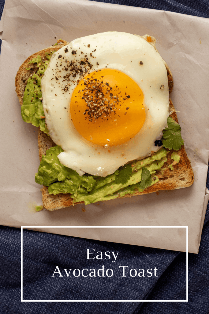 4 Ingredients | 5 Minutes | Delicious, basic, easy avocado toast with a perfect fried egg on top - the secret is in the cilantro!