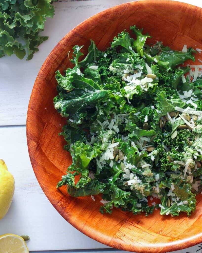Bowl of Best Kale Salad