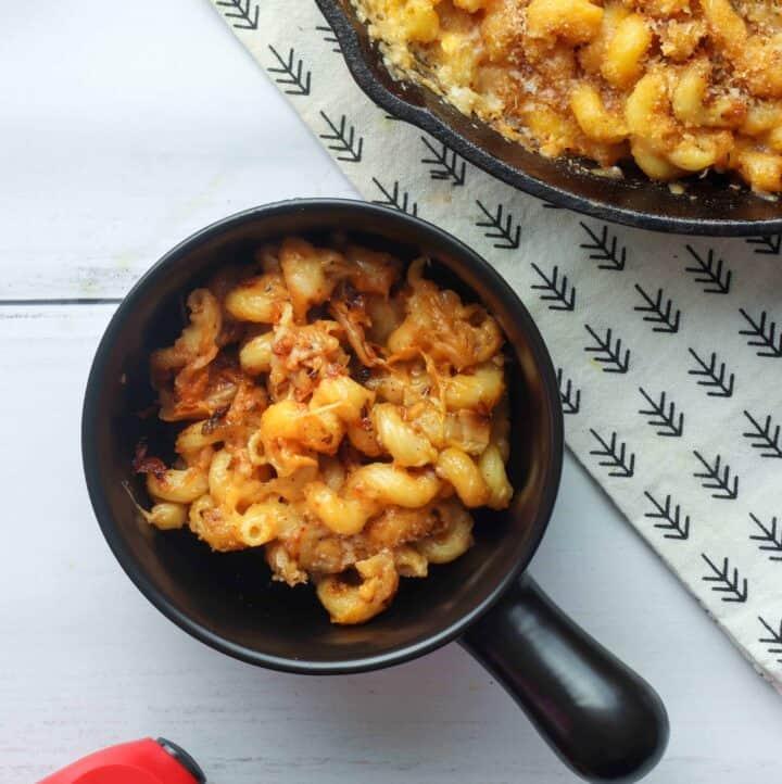 Bowl of Kimchi Mac and Cheese