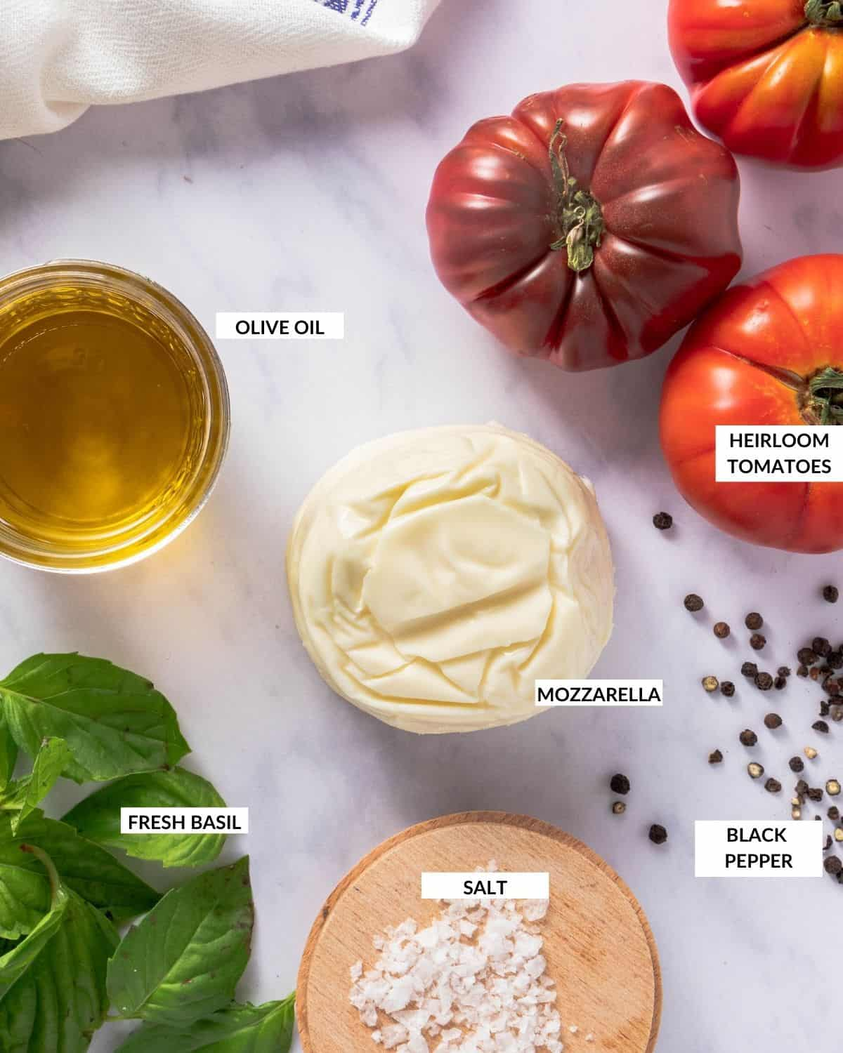 Labeled ingredient list for salad - check recipe card for details!