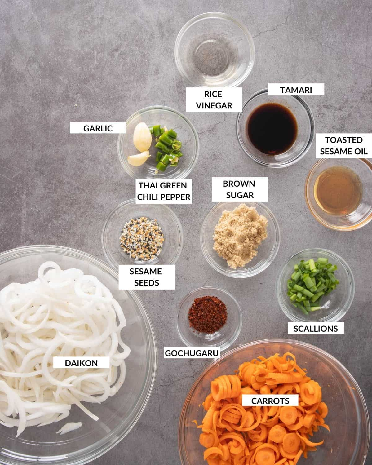 Labeled ingredient list for the recipe - check recipe card for actual details and quantities.