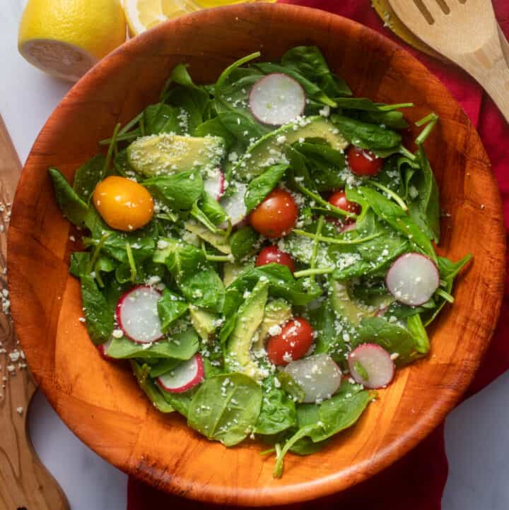 Salad bowl with summer salad