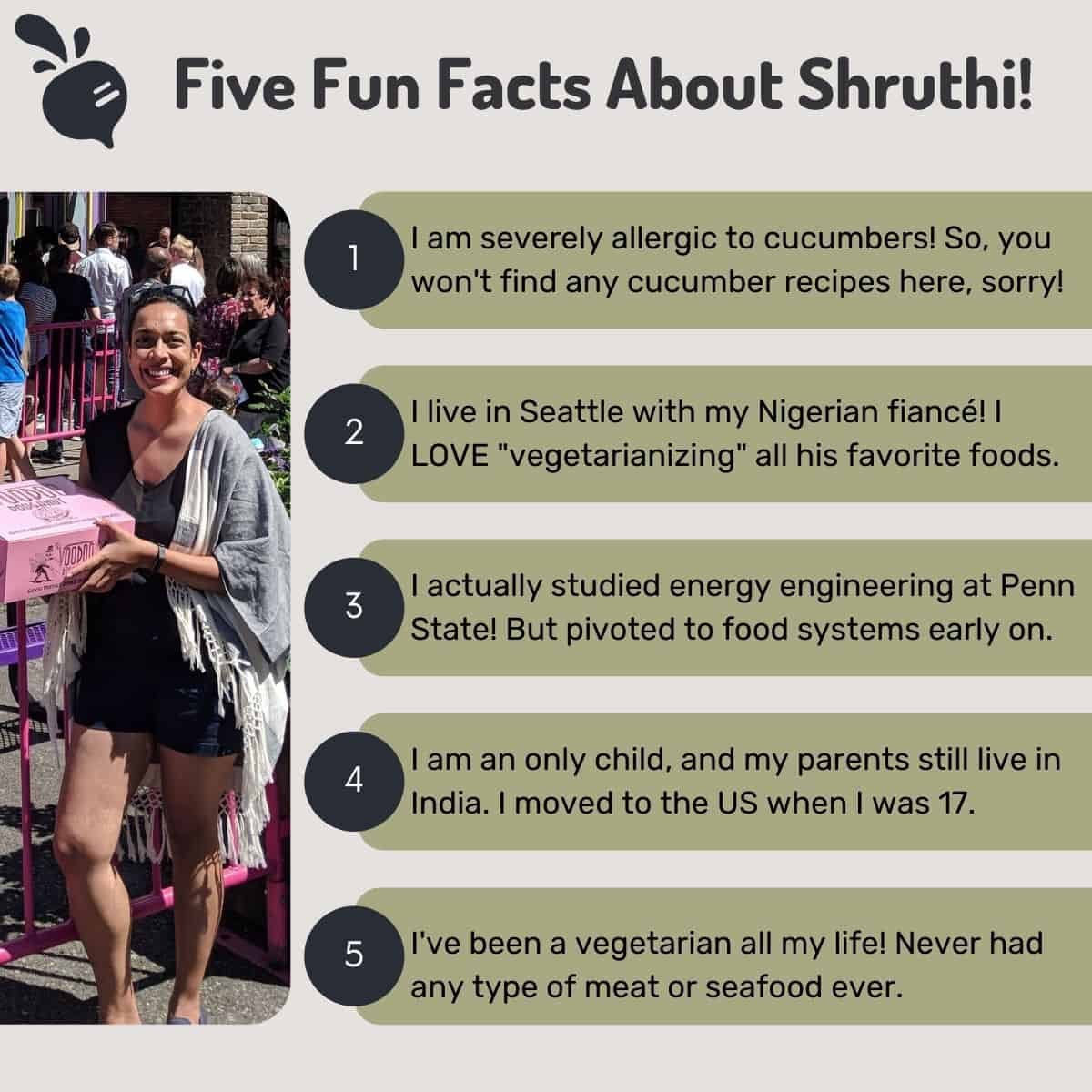Five fun facts about Shruthi