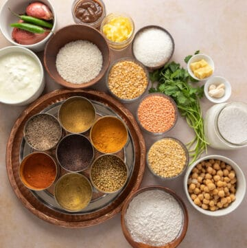 All the ingredients and spices you need for Indian cooking - details in the post