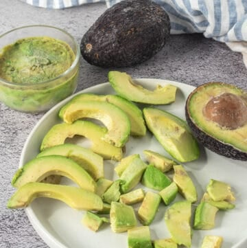 Final frozen product showing frozen avocados three ways