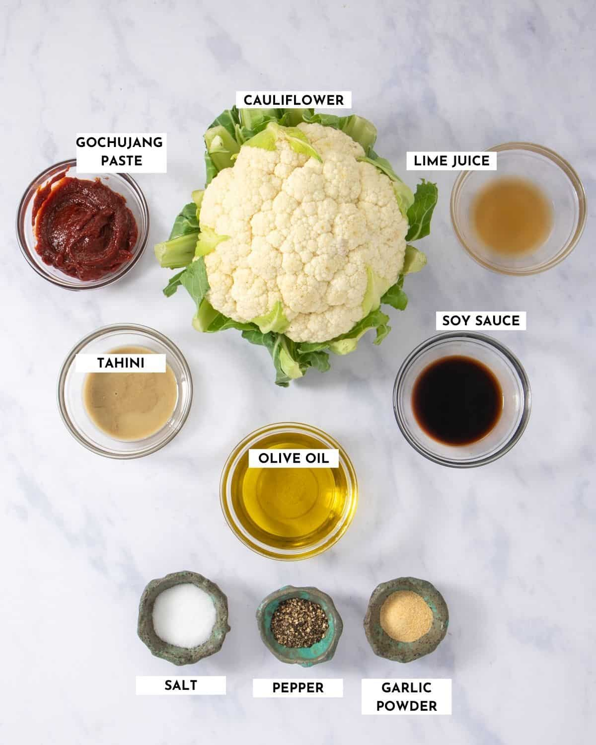 Labeled list of ingredients for making dish - check recipe card for details!