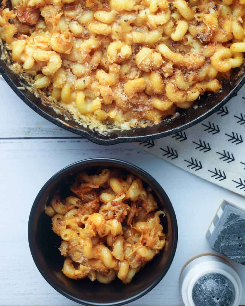 Bowl of Kimchi Mac and Cheese