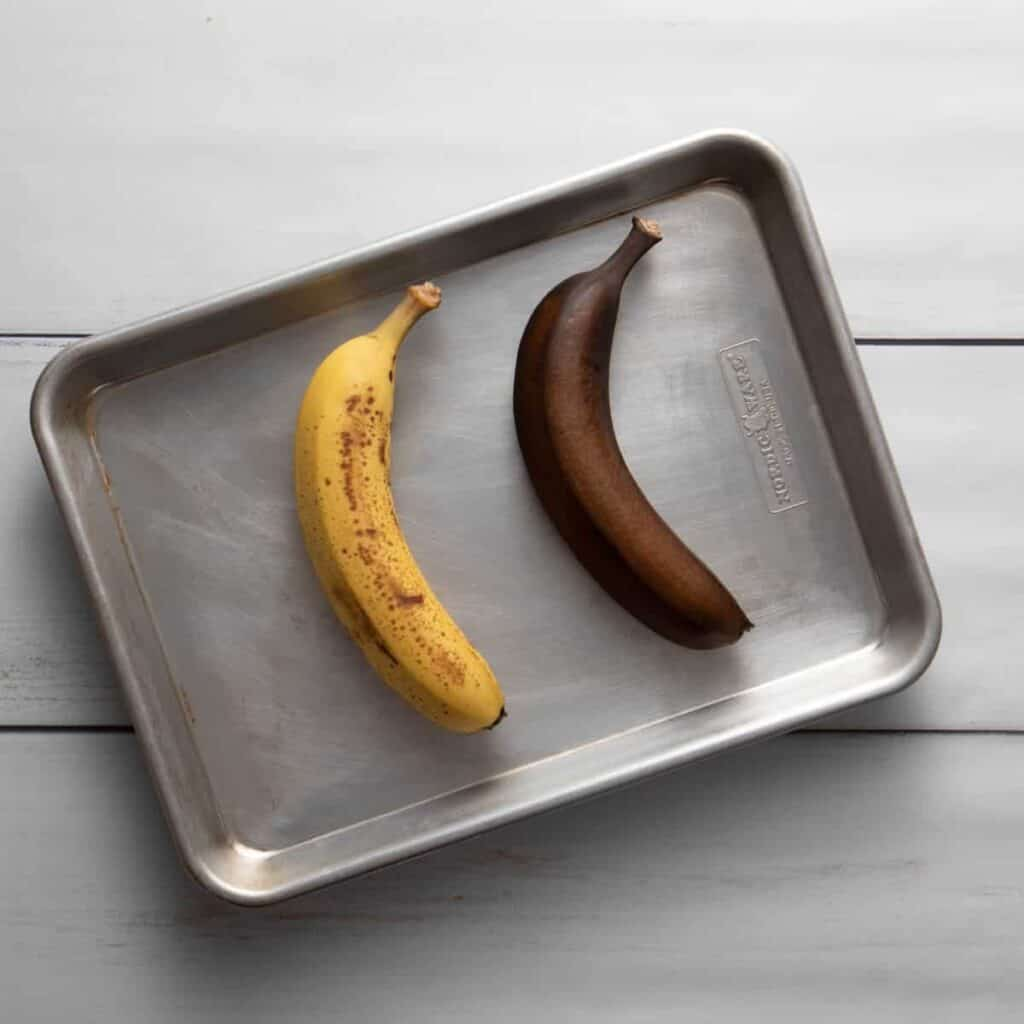 Ripen bananas using an oven