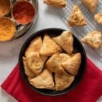 Healthy vegan baked samosas
